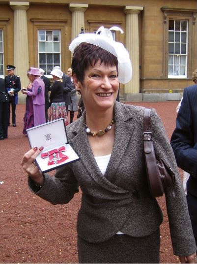 2005; Mary Boughton was honoured to be awarded an MBE her services to business