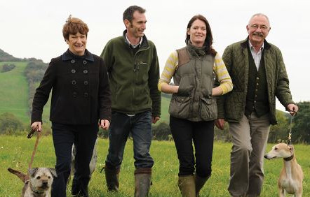 2010; Tony & Mary Boughton with their children Roly & Jo who at the time were both working at Dorwest