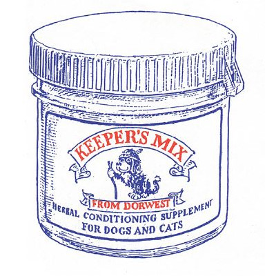 1994; Illustration of Keepers Mix our newly launched herbal conditioning supplement
