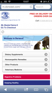 Dorwest Mobile Site